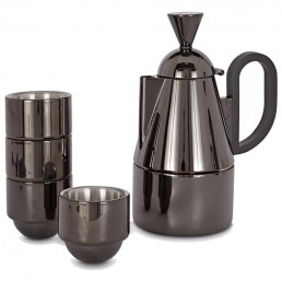 Brew Stovetop Espresso Pot and Cups Giftset