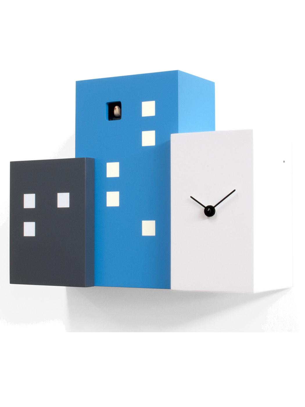 Walls Cucu Cuckoo Clock Black Blue White