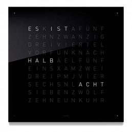 Wall Clock QLOCKTWO - Black