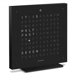 Alarm Clock Qlocktwo Touch Special Edition - Deep Black Stainless Steel