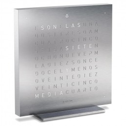 Alarm Clock Qlocktwo Touch Special Edition - Full Metal Stainless Steel