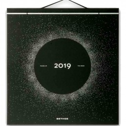 2019 Phases Of The Moon Wall Calendar