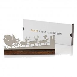 Modern Santa Mantel Ornament - Polished Nickel