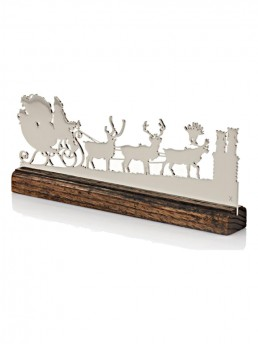 Modern Santa Mantel Ornament - Polished Nickel