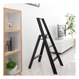 3-Step Stool - Black- Lifestyle Photo