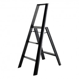 3-Step Stool Ladder - Black