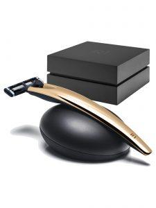 Razor Handle R1 - Gold With Razor Stand Gift Set