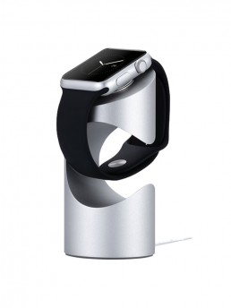 Time Stand Apple Watch Charge Stand - Silver