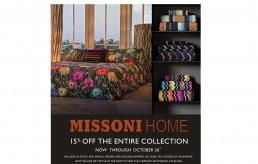 Missoni Home Fall Sale 2018
