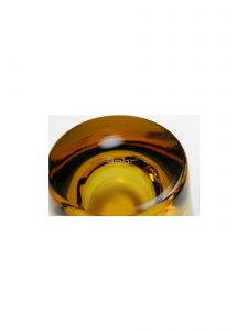 Bottom of Amber Duo Old Fashioned Glass