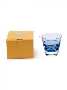 Blue Duo Old Fashioned Glass & Packaging
