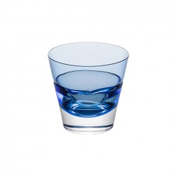 Blue Duo Old Fashioned Glass