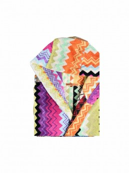 giacomo zig-zag pattern hooded bathrobe by Missoni Home