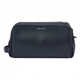 black leather dopp kit - side view - hook & albert