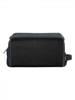 black cloth dopp kit -side - hook & albert