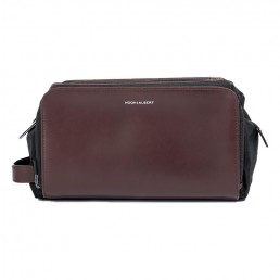 brown leather dopp kit - side- hook & albert