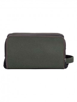 olive cloth dopp kit -side - hook & albert