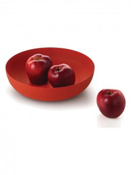 Large red basket bowl by Jasper Morrison