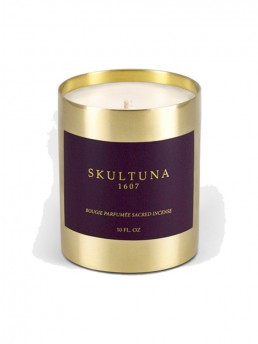 Sacred Incense Candle in Re-usable Brass Vessel hand-poured in Stockholm Sweden