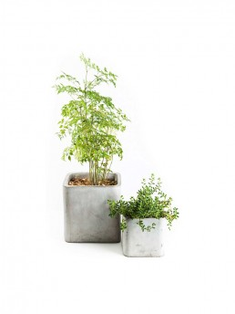 granada table top concrete planters