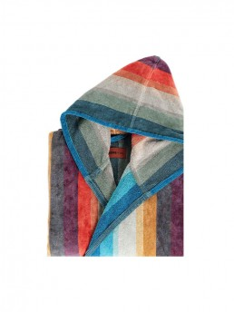 Woody is a colorful hooded Bathrobe from Missoni Home