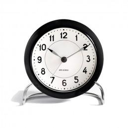 station table clock arne jacobsen black 1