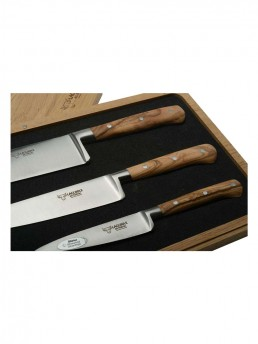 Set Of 3 Juniper Wood Chef Knives by Laguiole