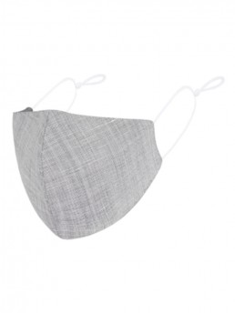 Grey Heather 3-Layer Face Mask
