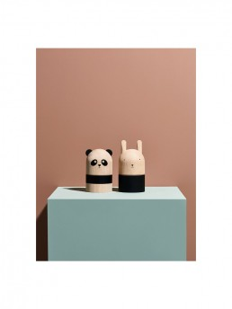 Front and Reverse View of Wooden Panda MoneyBank