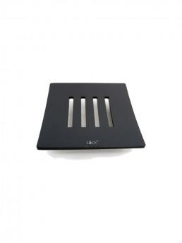 Abbaco Square Soap Dish Black Matte Steel