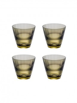Carbon bi-colore whisky tumbler set of 4 from from famous and historic glass maker Sugahara of Japan.