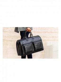 garment weekender bag hookalbert black leather lifestyle 2