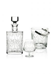 1930's Inspired Avenue Crystal Whiskey Decanter and Bar Set by Vista Alegre