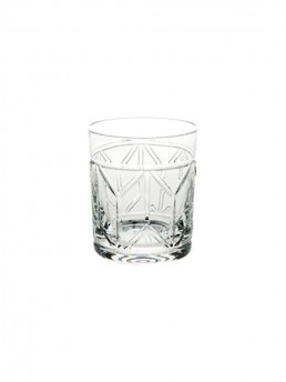 1930's Inspired Avenue Crystal Whiskey Old Fashioned Whiskey Glass by Vista Alegre