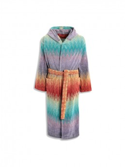 Colorful Missoni Yaco-159 Hooded Bathrobe