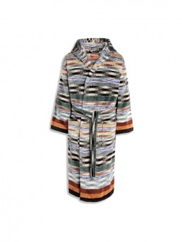 Colorful Missoni Ywan 165 Hooded Bathrobe