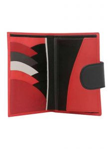 in the clouds wallet hester van eeghen red & black open