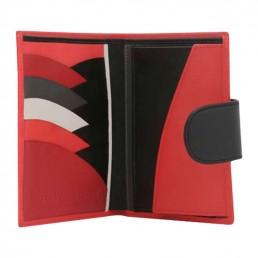 in the clouds wallet hester van eeghen red & black open