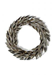 holiday metal laurel wreath goldleaf large version