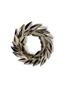 holiday metal laurel wreath goldleaf small version