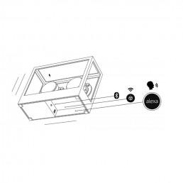 transparent speaker alexa diagram